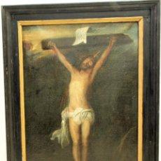 Arte: PINTURA AL OLEO DE CRISTO EN LA CRUZ.. Lote 263107445