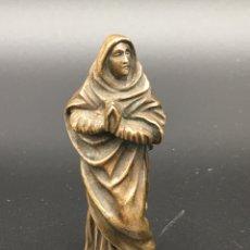 Arte: ANTIGUA FIGURA DE LA VIRGEN MARÍA EN BRONCE. Lote 263154765