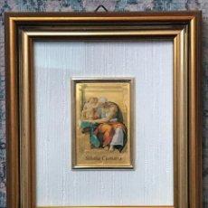 Arte: REPRODUCCIÓN LITOGRÁFICA HECHA A MANO EN LÁMINA DE ORO DE 23 KT. CON CERTIFICADO EDICIÓN MUSEO VATIC. Lote 263203275