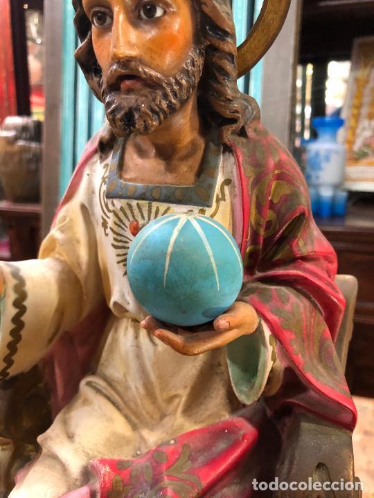 Arte: ANTIGUO CORAZON DE JESUS DE OLOT CON OJOS DE CRISTAL - MEDIDA 37,5 CM - RELIGIOSO - Foto 4 - 263258485