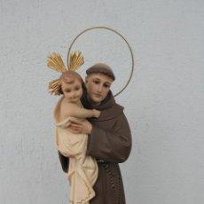 Arte: FIGURA SAN ANTONIO Y EL NIÑO JESÚS. ESTUCO OLOT. Lote 263675300