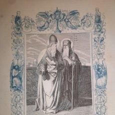 Arte: GRABADO RELIGIOSO - SAN SOTERO Y SAN CAYO - AÑO 1852 - AÑO CRISTIANO - 17.50 X 26 CM - IMAGEN 12 X17. Lote 263684605