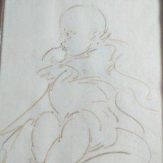 Arte: INTERESANTE DIBUJO DE UN ANGEL QUERUBIN FIRMADO PERO DESCONOZCO EL PINTOR PROBABLEMENTE ITALIANO. Lote 264106215