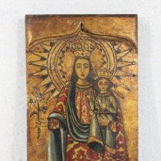 Arte: VIRGEN DEL PILAR ANTIGUA CON NIÑO JESUS CON PALOMA.. Lote 264122265