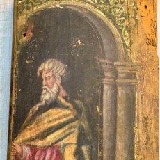 Arte: TROZO DE RETABLO IGLESIA - PINTURA RELIGIOSA - SANTO CON SAGRADAS ESCRITURAS - SIGLO XVII. Lote 264152208