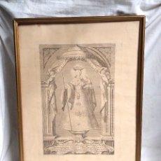 Arte: LA DIVINA PEREGRINA DE PONTEVEDRA GRABADO DE JUAN MINGUET MADRID AÑO 1779. MED. 33 X 48 CM. Lote 264182400