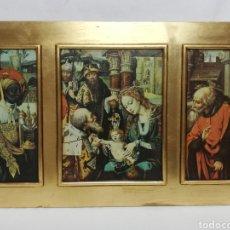 Arte: TRIPTICO-CUADRO RELIGIOSO. LA ADORACION DE LOS REYES MAGOS.. Lote 264269036