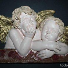 Arte: FIGURA ESCAYOLA ANGELITOS OBJETO DE DECORACION. Lote 264338948