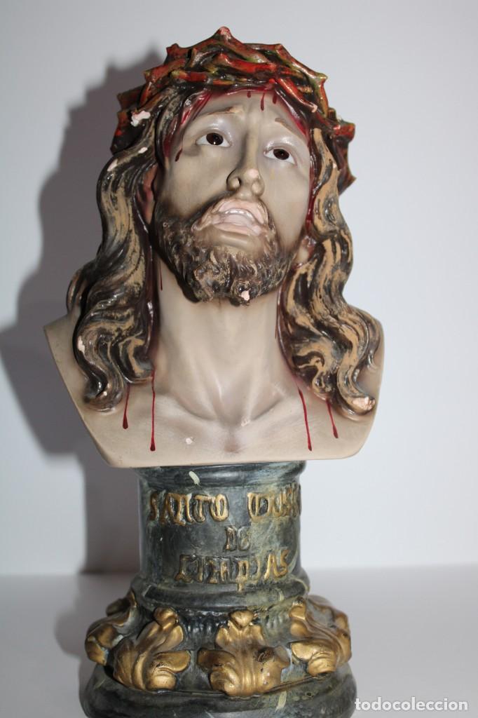 BUSTO SANTO CRISTO , ESCAYOLA (Arte - Arte Religioso - Pintura Religiosa - Otros)