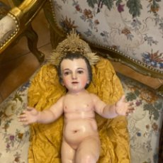 Arte: NIÑO JESÚS EN TALLA DE MADERA, ESCUELA ANDALUZA DEL SIGLO XVIII-XIX.. Lote 256025490