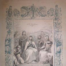 Art: GRABADO RELIGIOSO - ESPÍRITU SANTO - AÑO 1852 - AÑO CRISTIANO - 17.50 X 26 CM - IMAGEN 12 X 17 CM. Lote 264624809