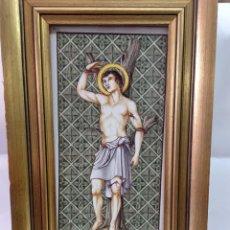 Arte: BONITO AZULEJO PINTADO DE SANT SEBASTIA. Lote 264806099