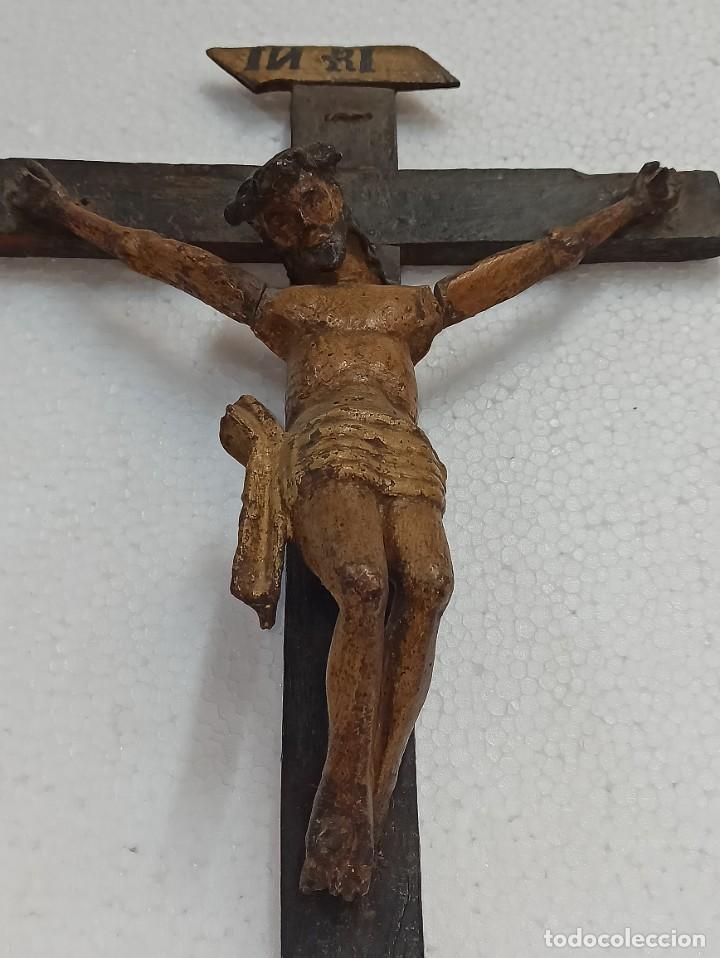 ANTIGUO CRISTO CRUCIFICADO. SIGLO XVIII. OF (Arte - Arte Religioso - Escultura)