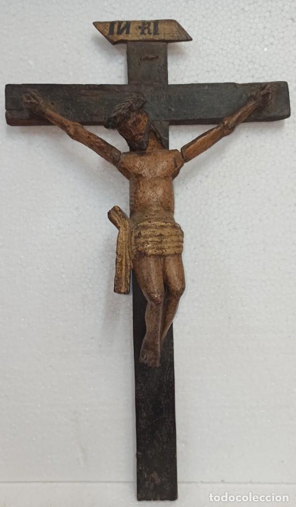 Arte: Antiguo Cristo crucificado. Siglo XVIII. Of - Foto 2 - 265107369