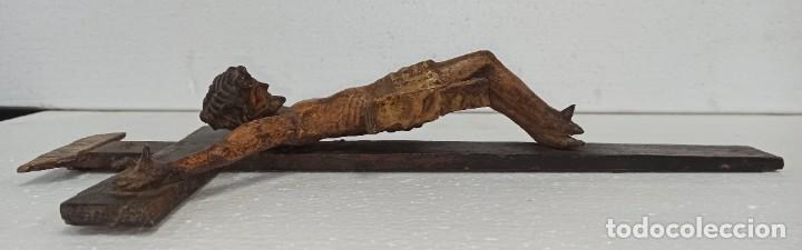 Arte: Antiguo Cristo crucificado. Siglo XVIII. Of - Foto 5 - 265107369