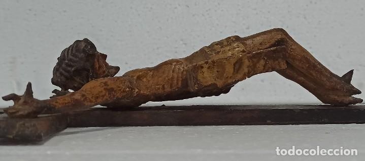 Arte: Antiguo Cristo crucificado. Siglo XVIII. Of - Foto 6 - 265107369