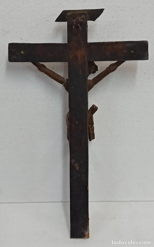 Arte: Antiguo Cristo crucificado. Siglo XVIII. Of - Foto 15 - 265107369