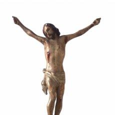Arte: CRIST DEL SIGLO XVIII TALLA DE MADERA POLICROMADA.. Lote 265112144