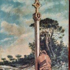 Arte: PINTURA AL OLEO SOBRE TABLA FIRMADA EUGENIO SELVA,SIGLO XIX-XX. Lote 265117379