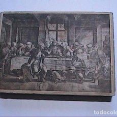Arte: PLANCHA DE METAL PARA GRABADO SOBRE PAPEL. LA ÚLTIMA CENA. HEDRICK GOLTZIUS. PAISES BAJOS.. Lote 265131179