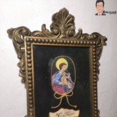 Arte: CUADRO VIRGEN MARÍA CON NIÑO JESÚS (VIRGO MARIAE) PINTADO A MANO - OLOT - VIUDA DE JUAN ARMENGOL. Lote 265189264