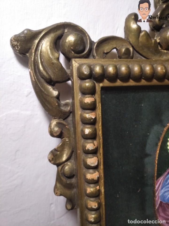 Arte: CUADRO VIRGEN MARÍA CON NIÑO JESÚS (VIRGO MARIAE) PINTADO A MANO - OLOT - VIUDA DE JUAN ARMENGOL - Foto 11 - 265189264