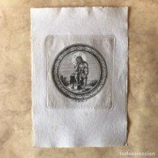 Arte: RELIGIOSO - SEVILLA - GRABADO DE J. M. MARTÍN - CRISTO HUMILDAD Y PACIENCIA. Lote 265323399