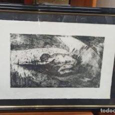 Arte: LITOGRAFIA FIRMADA M PALAU ENMARCADA. Lote 265385964