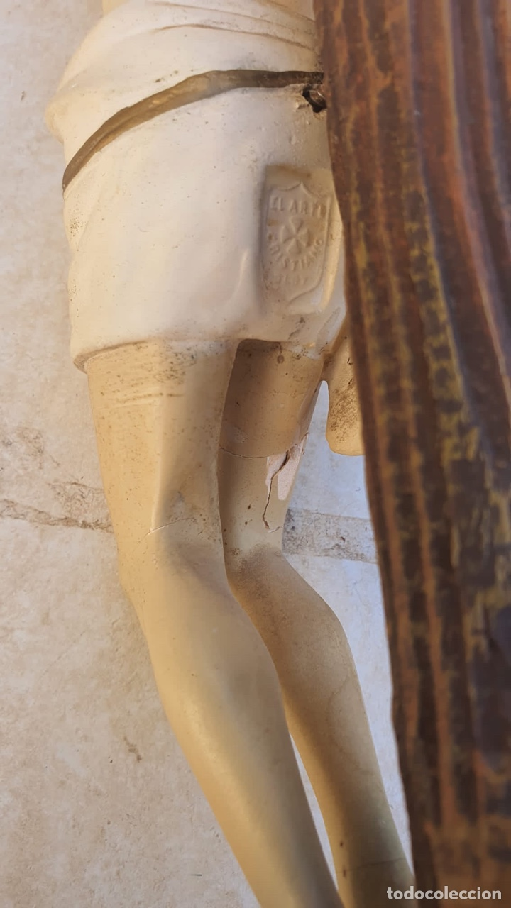 Arte: Bonito crucificado de Olot, para restaurar - Foto 15 - 265387239
