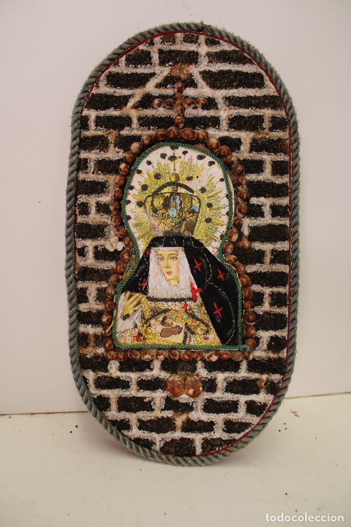 RETABLO VIRGEN DOLOROSA BORDADO (Arte - Arte Religioso - Retablos)