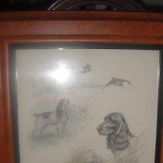 Arte: LEON DANCHIN (FRANCIA 1887-1938) 2 GRABADOS COLOREADOS. Lote 265437604