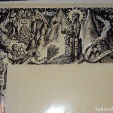 Arte: (M) DIBUJO ORIGINAL DEL GOZO DE LA VIRGEN DE MONTSERRAT S.XX, 47X33 CM, BUEN ESTADO. Lote 265498364