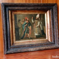 Arte: FRAY MANUEL BAYEU SUBIAS (ZARAGOZA, 1740 - 1808) OLEO SOBRE TELA - PAPA DE ROMA TESIS ARISTOTELES. Lote 252650305