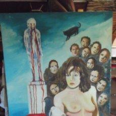 Arte: OLEO COLECCIÓN PRIVADA , ARTE MODERNO SOBRE LIENZO DEL ARTISTA M. BUENO 72X 54 DE 1988. Lote 265541089