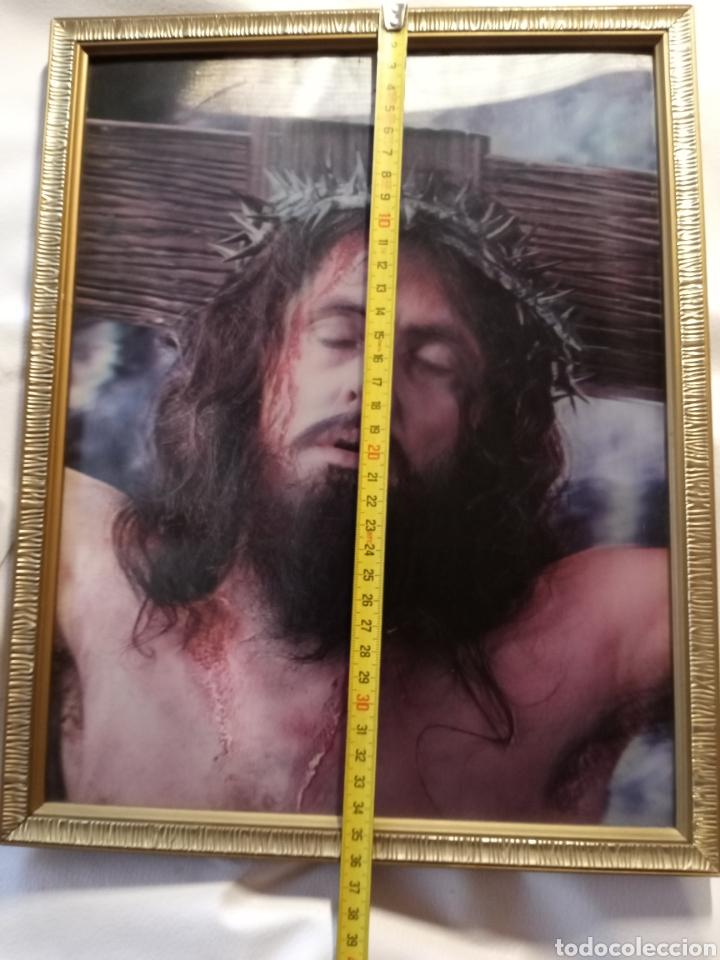 Arte: Cuadro enmarcado de Jesucristo.. - Foto 2 - 265553474