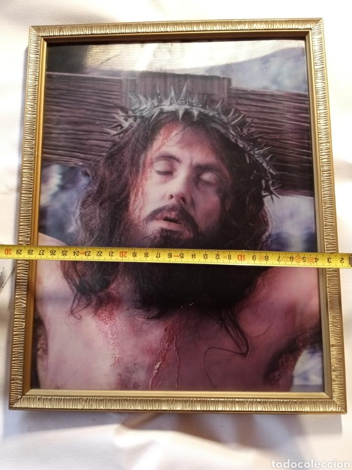 Arte: Cuadro enmarcado de Jesucristo.. - Foto 3 - 265553474