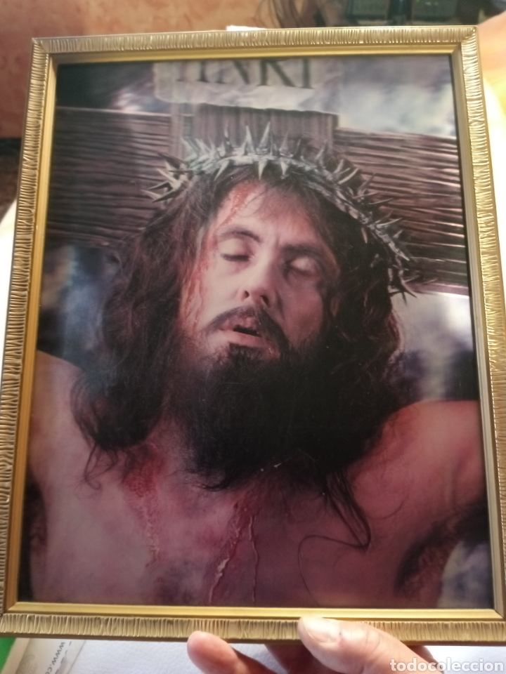 Arte: Cuadro enmarcado de Jesucristo.. - Foto 4 - 265553474