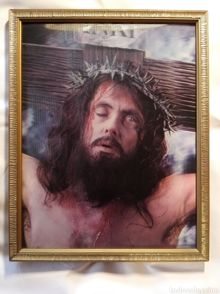 CUADRO ENMARCADO DE JESUCRISTO.. (Arte - Arte Religioso - Trípticos)