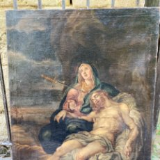 Arte: ANTIGUO ÓLEO SOBRE LIENZO. PINTURA RELIGIOSA S.XVIII MEDIDAS 79CM X 108CM. Lote 265735604