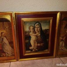Arte: TRÍPTICO RELIGIOSO (PAN DE ORO). Lote 265801174