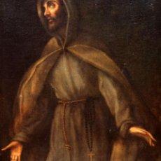 Arte: ESCUELA ESPAÑOLA DEL SIGLO XVIII. OLEO SOBRE TELA. FRANCISCANO. 82 X 63 CM.. Lote 266290118