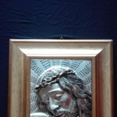 Arte: CUADRO ROSTRO CRISTO (BAÑADO EN PLATA). Lote 266542478