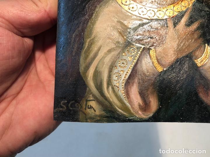 Arte: PEQUEÑO OLEO SOBRE TABLA DE LA PURISIMA CONCEPCION, FIRMADO S.COSTA. - Foto 3 - 266654863