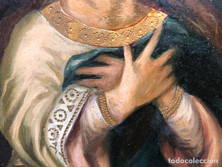 Arte: PEQUEÑO OLEO SOBRE TABLA DE LA PURISIMA CONCEPCION, FIRMADO S.COSTA. - Foto 5 - 266654863