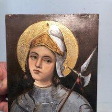 Arte: PEQUEÑO OLEO SOBRE TABLA DE SAN JORGE, FIRMADO S.COSTA.. Lote 266655023