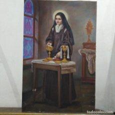 Arte: SANTA TERESITA DEL NIÑO JESÚS , ÓLEO SOBRE LIENZO FIRMADO. Lote 265469804