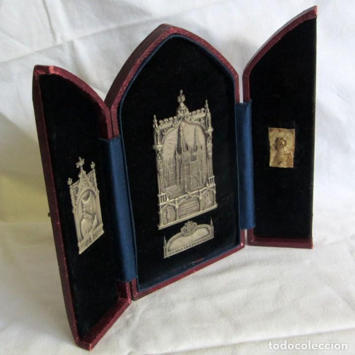 TRÍPTICO SOBREMESA VII CENTENARIO DE LA CATEDRAL DE BURGOS 1221-1921, ARNILLAS Y MATALLANA (Arte - Arte Religioso - Trípticos)