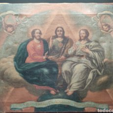Arte: ÓLEO SOBRE LIENZO SIGLO XVIII O XIX. DIOS TRINO. SANTÍSIMA TRINIDAD.. Lote 267209554