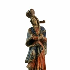 Arte: TALLA RELIEVE MADERA POLICROMADA. VIRGIN VIRGEN CARVED WOOD & POLYCHROME RELIEF. SPAIN CA 1700. Lote 267241384