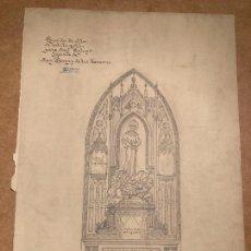 Arte: PROYECTO DE ALTAR PARA LA IGLESIA DE S FERMÍN DE LOS NAVARROS POR JOSÉ SENENT 1946. Lote 267356849